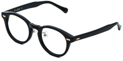 Black Main ZILOE Vive Acetate Vintage Round Prescription Optical Glasses