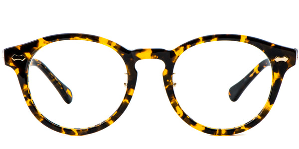 Tortoise Main ZILOE Vive Acetate Vintage Round Eye Glasses