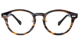 Havana Main ZILOE Vive Acetate Vintage Round Prescription Optical Glasses