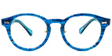 OceanBlue Main ZILOE Vive Acetate Vintage Round Blue Eye Glasses