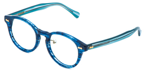 OceanBlue Main ZILOE Vive Acetate Vintage Round Prescription Optical Glasses