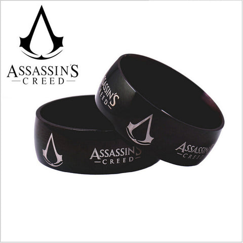 AC Syndicate ring black Plated Logo FREE SHIPPING