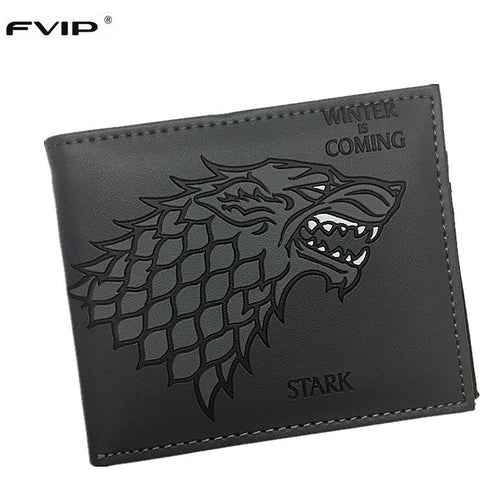 Hot Sell Leather Wallet Game of Thrones Stark Winter is Coming Short Wallet