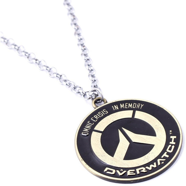 Overwatch Jewelry Pendants Necklace Tracer Reaper Logo Necklaces