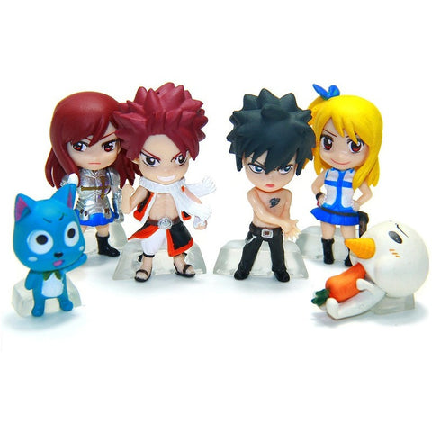 Fairy Tail PVC Figure Model Keychain 6 pcs/set - GamerGift