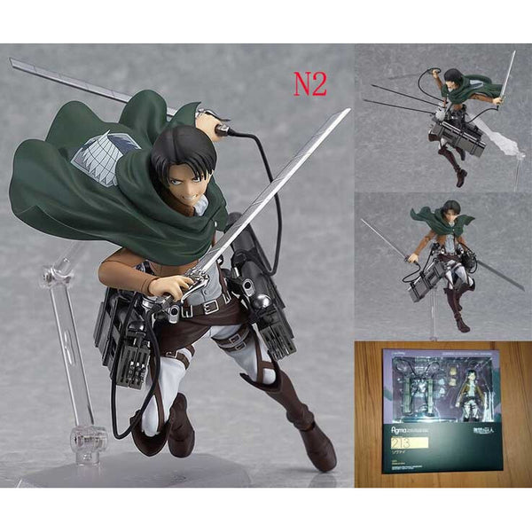 Attack on Titan Shingeki Kyojin Rivaille Figma Figures Model Collection Toy