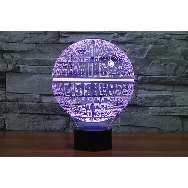 3D Novelty Light Star Wars Death Star 7 Colors Changing LED Lamp