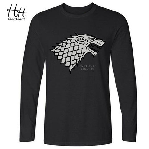 HanHent Winter is coming Direwolf T-shirt