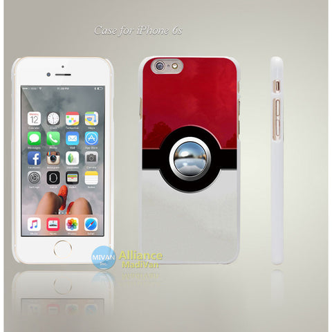 New Pokemons balls Style Hard White Case Cover Coque for iPhone 4 4s 4g 5 5s 5g 5c 6 6s 6 6s Plus