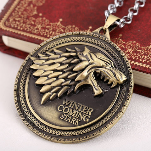 House Stark wolf pendant necklace