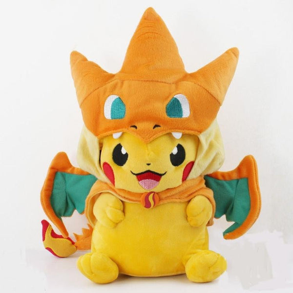 (HOT!) 2 style Pikachu Cosplay Charmander Plush Toy