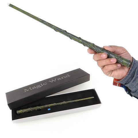 Harry Potter Cosplay Hogwarts Hermione LED Light UP Mediumistic Magic Wand Slughorn