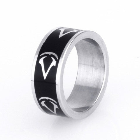 Assassins's Game Around Titanium Steel Ring