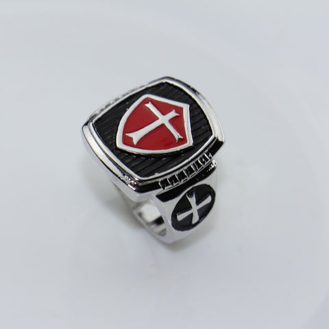 Assassins Creed Size 8-12 Stainless Steel Red Enamel Ring