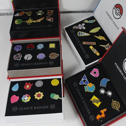 8Pcs/set Pokemon Badge Brooch mini Zinc Alloy Figures model Toys - GamerGift