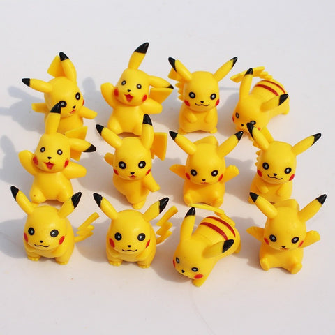 Pokemon Pikachu figure 12pcs/lot Soft Dolls