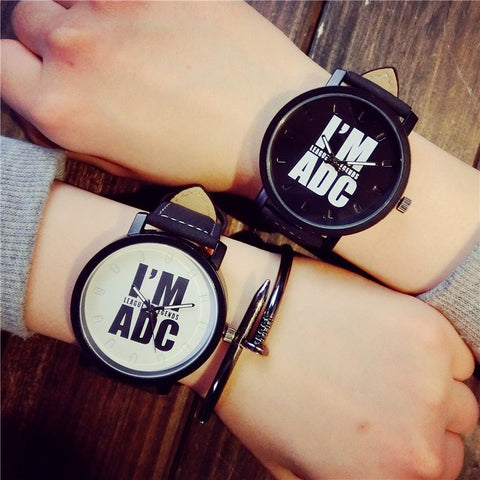 I AM ADC Leather Quartz Wristwatches - PRE ORDER 60% OFF Wholesale price