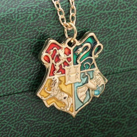 Harry Potter Necklace Hogwarts School Badge Harry Potter Pendant Collier