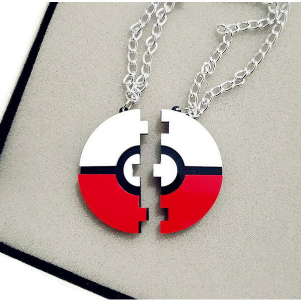 Brand New  Acrylc Pokemon Pokeball Laser Cut Acrylic Pendant Necklace