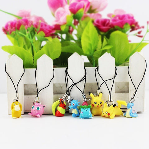 Pokemon keychain Pendant cellphone 8pcs/lot