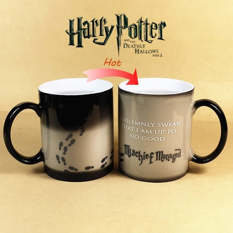 Harry Potter Mug Color Changing Cup,Mischief Managed /Platform 9 and 3/4  Magic Coffee Cup