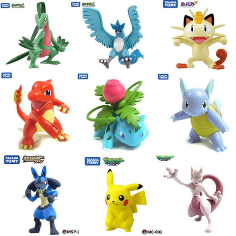 Original Pocket Monster Pikachu Squirtle Bulbasaur Pokemon animal doll