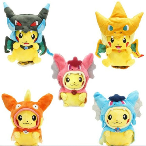 Pokemon Plush Toys Cosplay Pokemon Pikachu Mega Charizard Cotton Stuffed