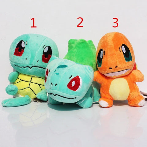 Pokemon Squirtle  Charmander  Bulbasaur Plush toy figures Toys