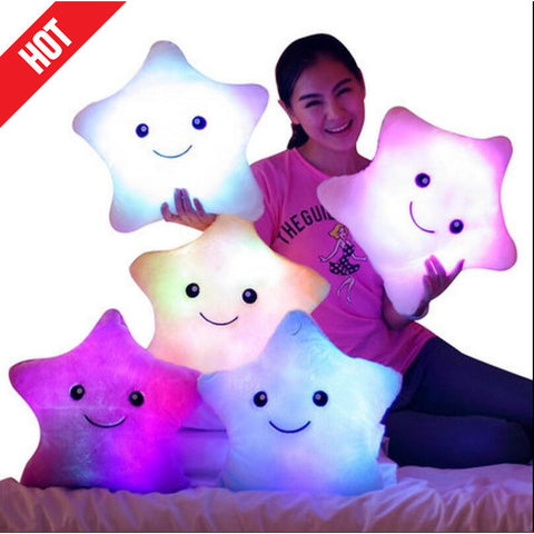 Pokemon Plush Cute Star Led Light Pillows Colorful Star Luminous Pillow