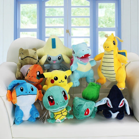 1Pcs Retail Pokemon Plush Toys - Jirachi Totodile Dragonite Charmander Pikachu Mudkip Squirtle Bulbasaur Lugia - GamerGift