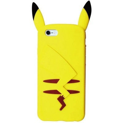 Pikachu Cute Silicone Back Cover Case For iPhone 4 4s 5 5s SE 6 6 plus For s5 S6 note3