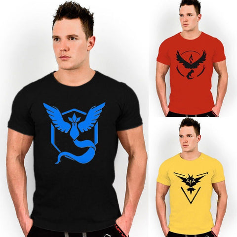 Pokemon Go Mens T Shirt Slim Fit Crew Neck T-shirt