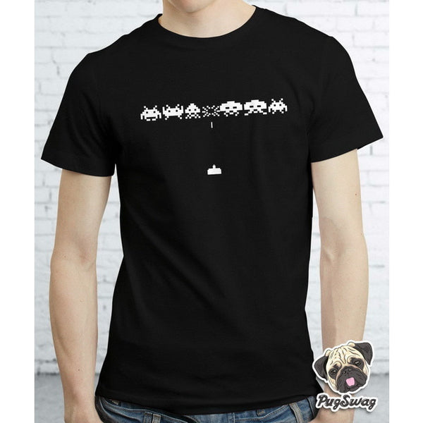 Space Invaders Gamer Gaming Retro Funky Arcade Tshirt