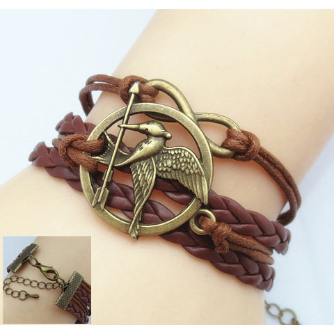 Harry Potter wings Infinity Bracelet deathly hallows bracelet & Bangle