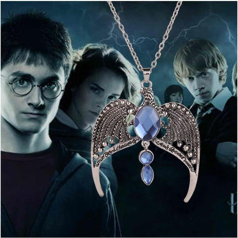 Harry Potter Ravenclaw vintage necklace Magic Academy lost crown jewelry C280