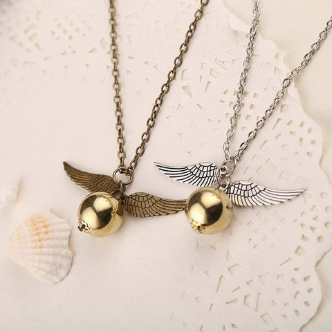 (HOT!) harry potter snitch gold necklace - GamerGift