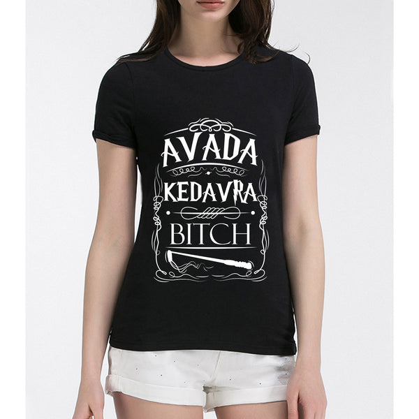 summer fashion t shirt for women Avada Kedavra Harry Potter letters printed