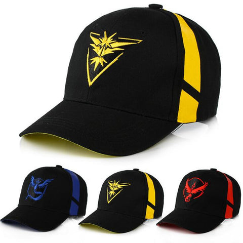Pokemon Go Cap Action Figures Team Valor Team Mystic Team Instinct