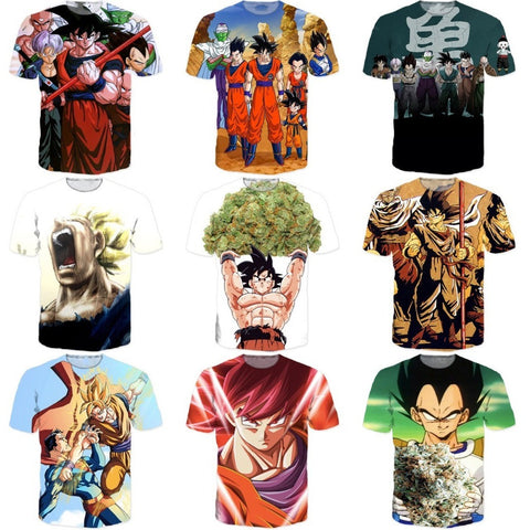 Dragon Ball Z Super Saiyan T shirts Women Men Hipster 3D T shirt - GamerGift