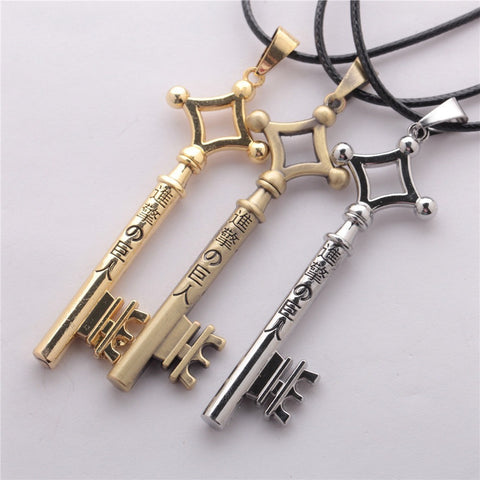 3 Colors Attack On Titan Eren Key Necklace Metal - GamerGift