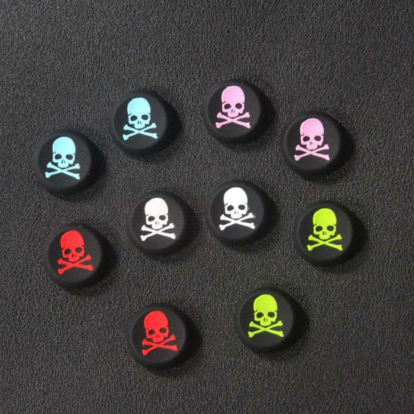 2pcs Skull Design Anti-slip Silicone Caps for Sony PS3 PS4 Game Controller