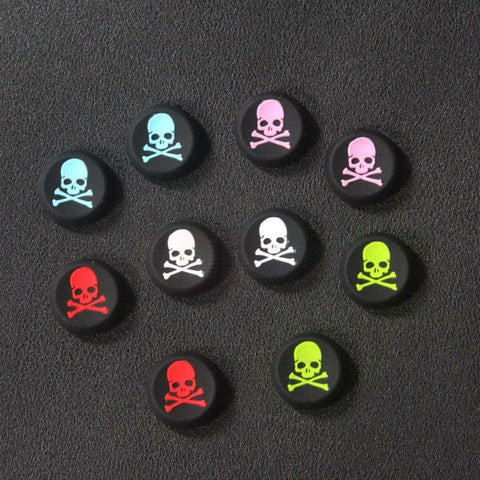 2pcs Skull Design Anti-slip Silicone Caps for Sony PS3 PS4 Game Controller - GamerGift