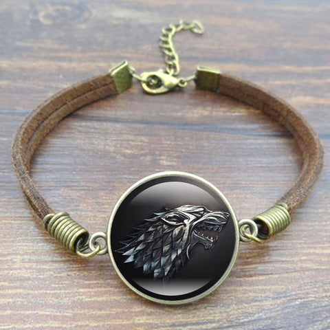 Game of Thrones Stark Wolf Charm Bracelet
