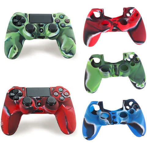 NEW Cool Camouflage Soft Silicone Cover Case Protection Skin For Sony Playstation 4 Dualshock 4 Controller PS4 Console Decals