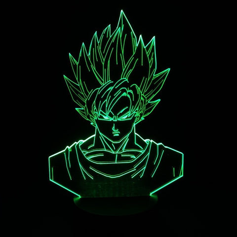 Dragon ball z super saiyan 3 goku action figures 3d table lamp - GamerGift