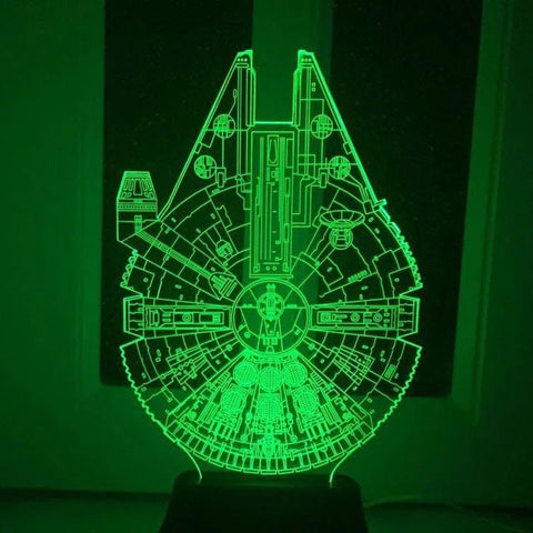 Star Wars 7 color changing visual illusion LED lamp