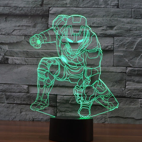 The Avengers Iron Man Deadpool 3D Led tabel lamp
