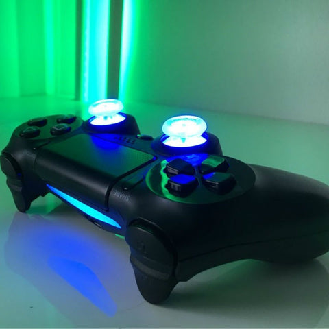 DIY Button Transparent analog thumb sticks thumb stick Led Light Fits for Sony PS4 Dual Shock 4 Controller With Colors - GamerGift