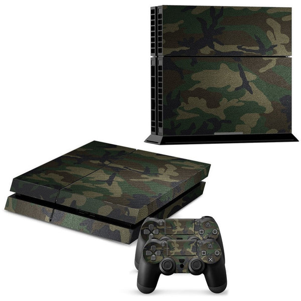 (HOT!) Camouflage pattern Skin Sticker For PlayStation 4 PS4 Console + 2Pcs Free Controller Cover Decals