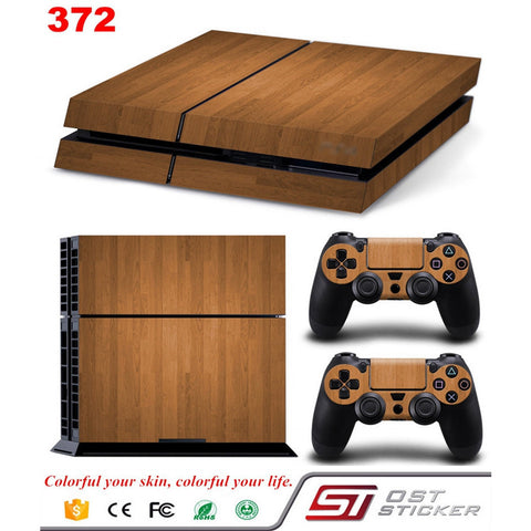 New Wood Grain Decal Skin Sticker For Playstation 4 PS4 Console Controllers skins